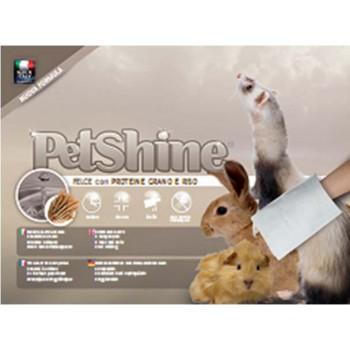 PetShine очищающая варежка-салфетка для грызунов с экстрактом папоротника и протеинами пшеницы и риc