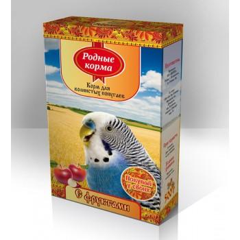 Родные корма Корм для волнистых попугаев 500 г с фруктами 1х14 3062
