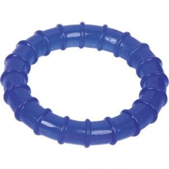 """Игрушка """"Грызлик Ам"""" Кольцо ребристое Dental Размер 13,5 см, Цвет Синий, Материал TPR"""