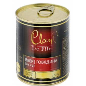 Clan / Клан De File консервы для кошек Говядина, 0,34 кг