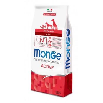 Monge / Монж Dog Speciality Active корм для активных собак с курицей 12 кг