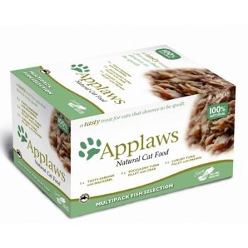 """Applaws / Эпплаус набор для кошек """"Рыбное ассорти"""": 8шт.*60г 0,48 кг"""