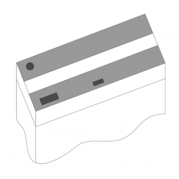 Juwel / Ювель Комплект пластиковых крышек для Rio 300, 2 шт черный