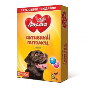 Multi Лакомки Активный питомец для собак 100 таб.