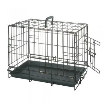 Karlie-Flamingo / Карли Фламинго Клетка для собак черная, с 1 дверью 47*30*37 см