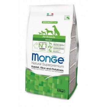 Monge / Монж Dog Speciality корм для собак всех пород кролик с рисом и картофелем 2,5 кг