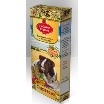 Родные корма Зерновая палочка для грызунов 45г х 2шт. с фруктами 1х18 3192