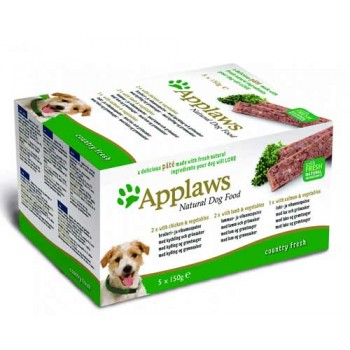 "Applaws / Эпплаус набор для Собак ""Курица, Ягненок, Лосось"": 5шт.*150г 0,75 кг"