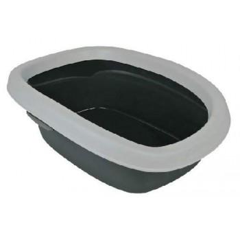 """Trixie / Трикси 40111 Туалет д/кошки с бортиком """"Carlo"""" 43*31*14см,св.серый/серый"""