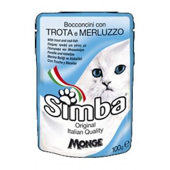 Simba / Симба Cat паучи для кошек форель с треской 100 г