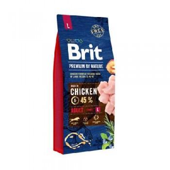 Brit / Брит Premium by Nature Adult L д/взрослых собак крупных пород 15 кг
