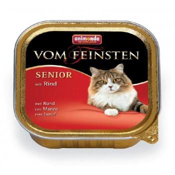 Animonda Vom Feinsten Senior конс. 100 гр. с говядиной для стареющих кошек (ламистер) 83857