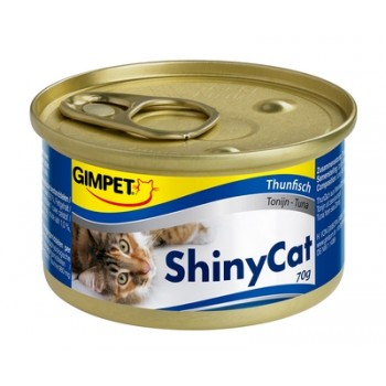 Gimpet / Гимпет Консервы Shiny Cat с тунцом д/кошек, 70г