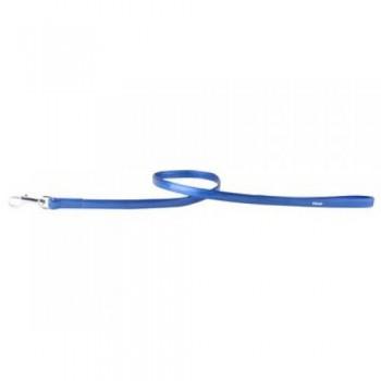 CoLLaR Brilliance (лак) Поводок из лаковой кожи двойной без украшений, 122см*13мм, синий (31202)