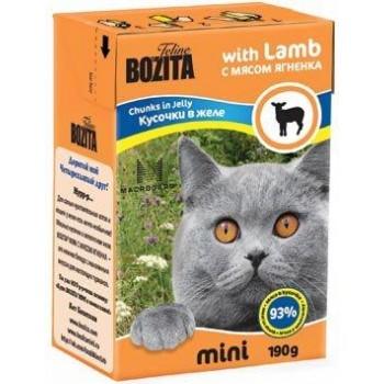 Bozita / Бозита MINI 2101 кон.д/кошек кусочки в желе с мясом Ягненка 190г