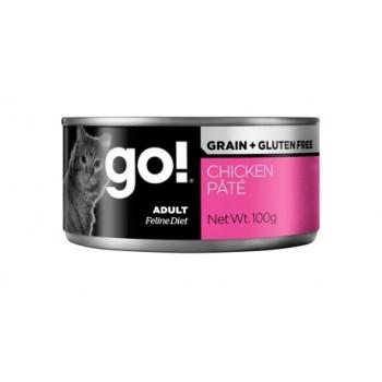 GO! / ГОУ! Grain Free Chicken Pate CF консервы беззерновые с курицей для кошек 100 гр