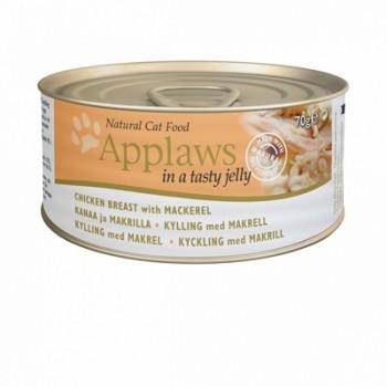 Applaws / Эпплаус Кусочки в желе для кошек с Курицей и Скумбрией 0,07 кг