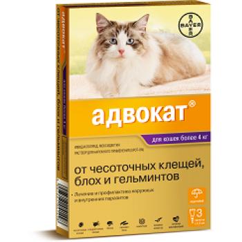 Адвокат (Байер) для кошек 4-8 кг (3 пипетки х 0,8 мл)