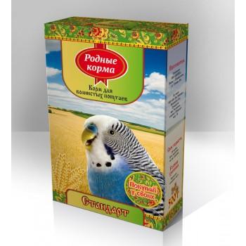 Родный корма Корм для волнистых попугаев 500 г стандарт 1х14 3048