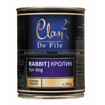 Clan / Клан De File консервы для собак Кролик, 0,34 кг