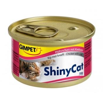 Gimpet / Гимпет Консервы Shiny Cat с цыплёнком и крабами д/кошек, 70г