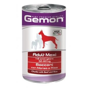 Gemon / Гемон Dog Maxi для собак крупных пород кусочки говядины с рисом 1250 г