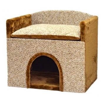 Зооник Будка для собак с лежанкой, малая (525х375х480)