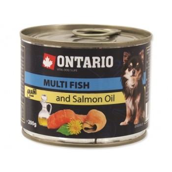 Ontario / Онтарио Консервы для собак малых пород: рыбное ассорти 0,2 кг
