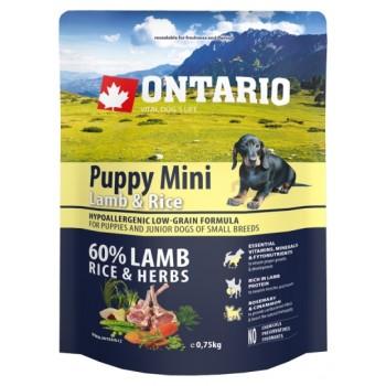 Ontario / Онтарио для щенков малых пород с ягненком и рисом 0,75 кг