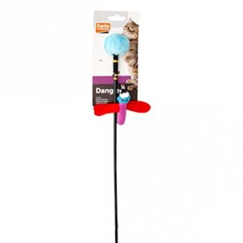 Karlie-Flamingo / Карли Фламинго Игрушка д/кошек дразнилка с насекомым 3,5*9*53 см