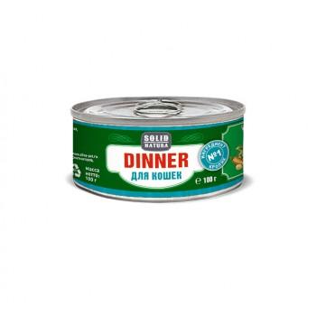 Solid Natura Dinner / Солид Натур Диннер Кролик влажный корм для кошек жестяная банка 0,1 кг