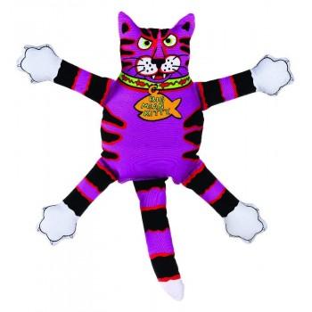 "Kitty City Игрушка ""Кот-забияка"" Мини, фиолетовый, (FATCAT Mini terrible nasty scaries)"