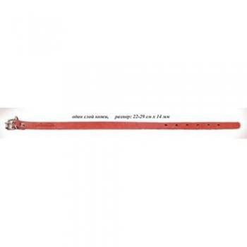 Аркон Ошейник кожаный 14/1, размер 22-29 см x 14 мм, цвет красный, о14/1кр, один слой кожи (35676)