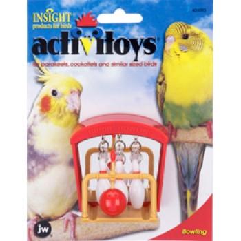 JW Игрушка д/птиц - Птичий боулинг, пластик Activitoy Birdie Bowling (31093)