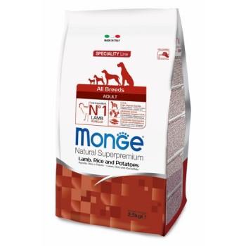 Monge / Монж Dog Speciality корм для собак всех пород ягненок с рисом и картофелем 2,5 кг