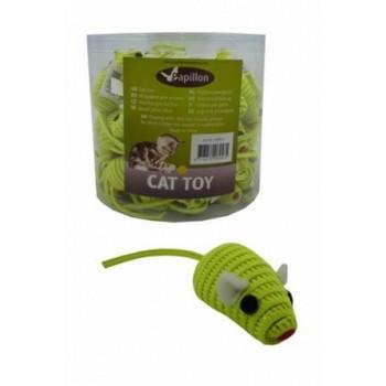 """Papillon / Папиллон Игрушка для кошек """"Светоотражающая Мышка с погремушкой"""", желтая, 5см"""
