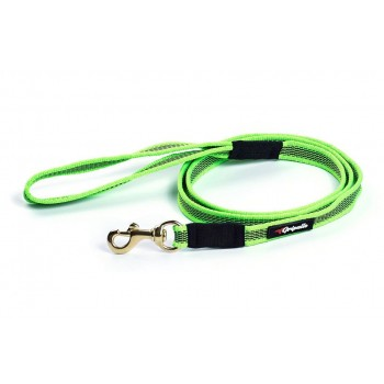 Gripalle / Грипэлле 20-200G 4947 Поводок нейлоновый прорезиненный для собак, фурнитура из латуни 20 мм*200 см, Зеленый