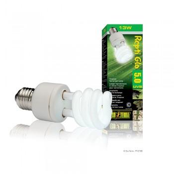 Exo Terra / Экзо Терра Лампа Reptile UVB100 former UVB5.0 Compact, 13 W /для тропического террариума/ PT2186