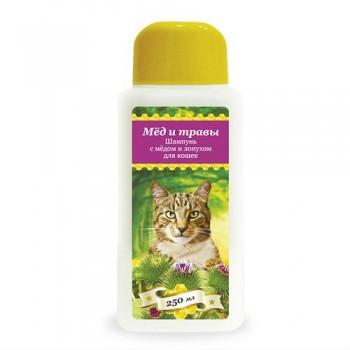 Пчелодар Шампунь с мёдом и чередой для кошек 250 мл