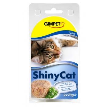 Gimpet / Гимпет Консервы Shiny Cat с тунцом в блистере д/кошек, 2*70г