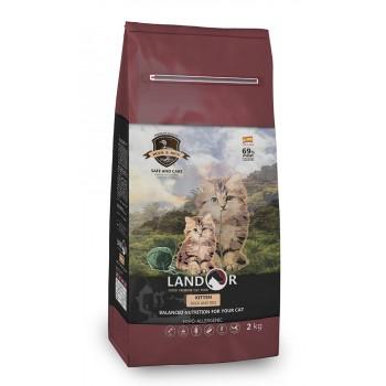Landor / Ландор сухой корм для котят утка с рисом 2 кг