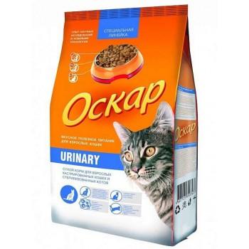 Оскар сухой Urinari, для кастрированных и стерилизованных кошек МКБ 0,4 кг