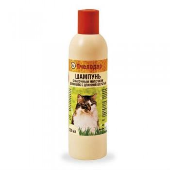 Пчелодар Шампунь с маточным молочком для короткошерстных кошек 250 мл