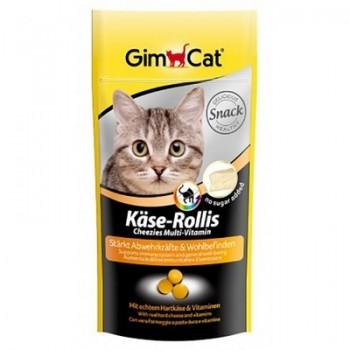 """Gimcat / ГимКэт ВитаМиниз. лакомство """"Сырные ролики"""" Мультивитамин д/кошек, 40 г"""