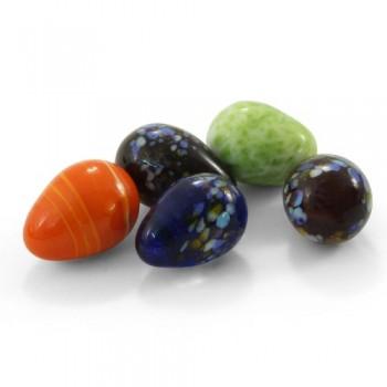 """Jebo / Джебо 60107A Грунт декоративный """"яйца разноцветные"""" 25-30мм, 10шт в сетке"""