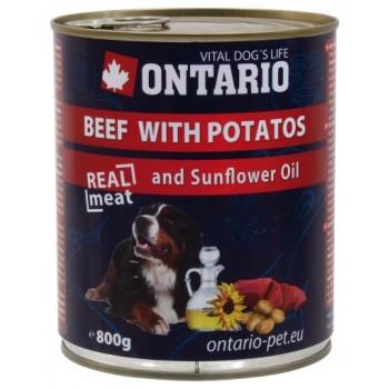 Ontario / Онтарио Консервы для собак: говядина и картофель 0,8 кг