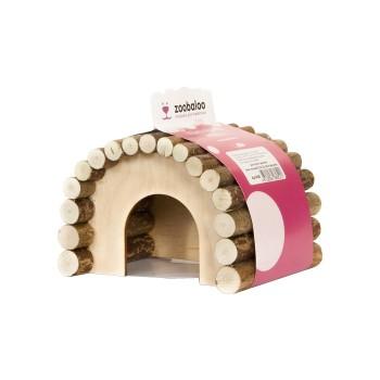 ZooBaloo Домик для грызунов деревянный (форма овальный) L: 23х15х17 см