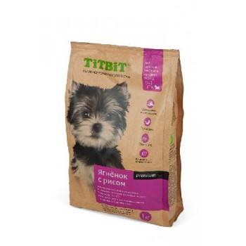 TitBit / ТитБит Корм сухой для щенков мелких и средних пород ягненок с рисом 1 кг