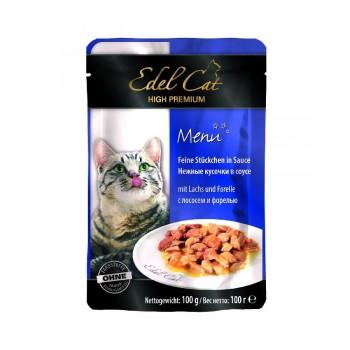 Edel Cat / Эдель Кэт нежные кусочки в соусе /лосось форель/ - 100 г