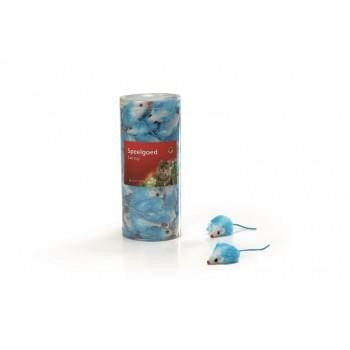 """I.P.T.S. 440447 набор игрушек д/кошек """"Мышь плюшевая"""" голубая 5см (туба)"""